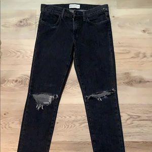 Wildfox ripped at the knee grey jeans